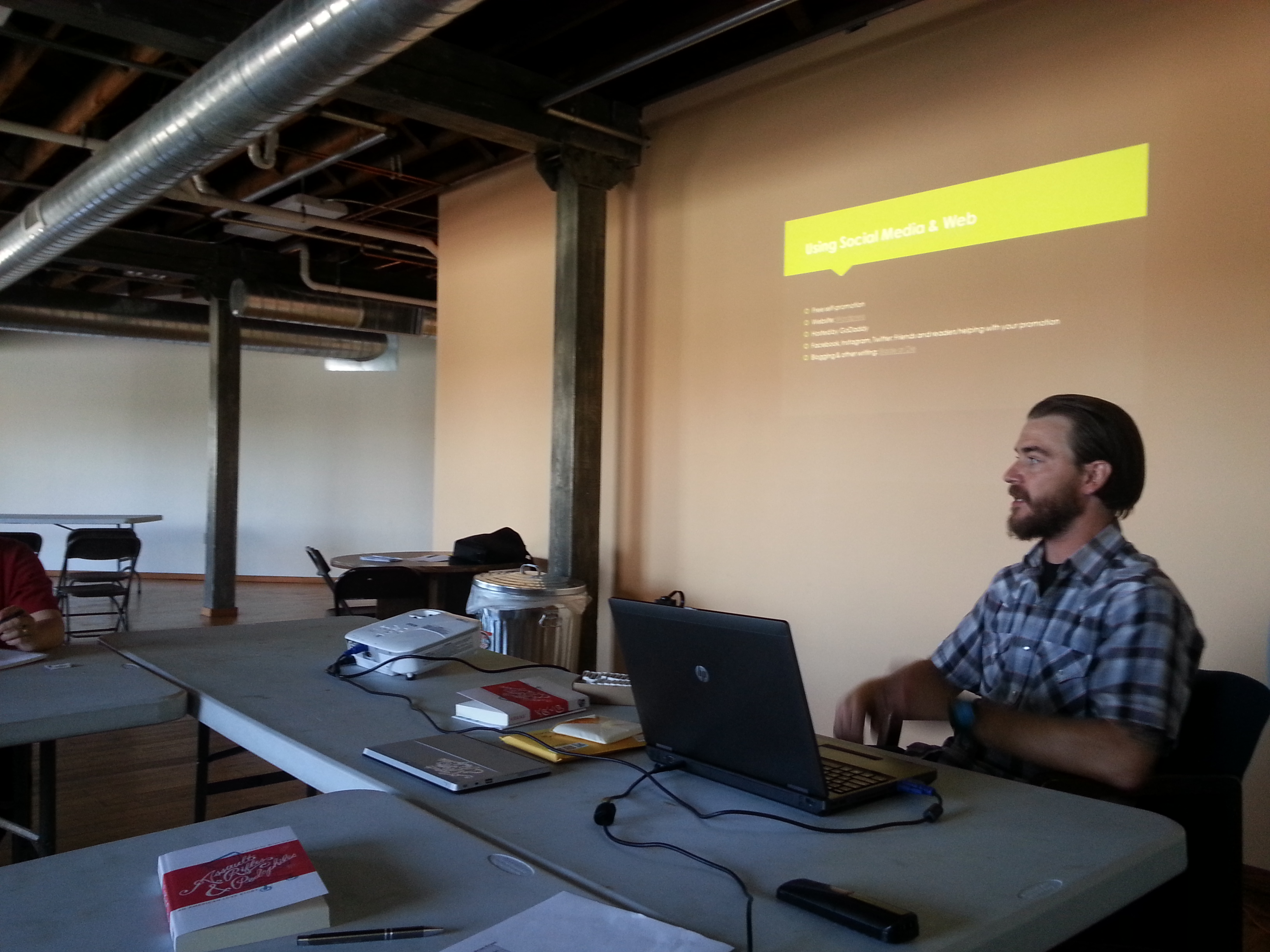 Brian Krans teaching a novel workshop at MWC