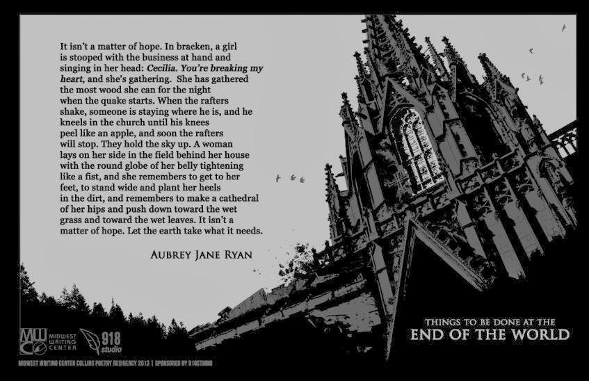 Broadside by Aubrey Jane Ryan, 2013 Poet-in-Residence