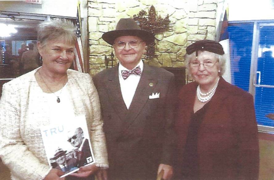 Harry and Bess at Foxwood Ridge Retirement Center, Raymore, MO, 9/23/14. From left: Judy Turner of Truman Library Institute, Dr. Niel Johnson at Harry, Nancy Cramer as Bess